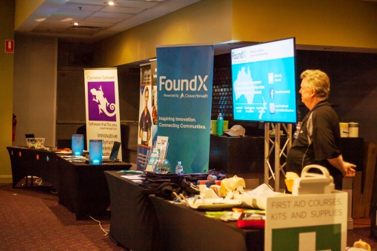 Sponsors Tables - big thanks to Chameleon Software, FoundX and Mid North Coast Local Health District