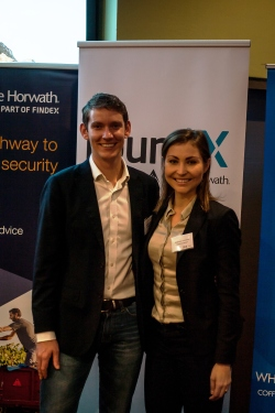 Sponsors Crowe Horwath and staff members Will Gooderson and Stephanie Trethewey
