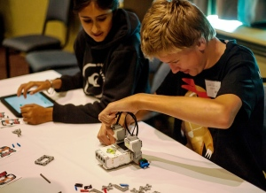 Students enjoying the challenge of Robotics - thanks to FIRST and Macquarie for bringing the Robotics to Coffs Harbour