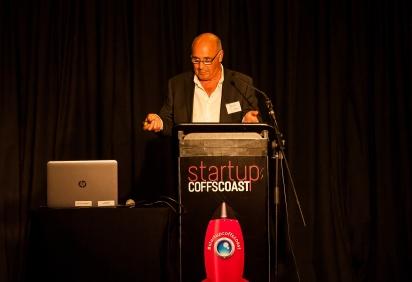 Peter Stone pitching Healing Chambers International